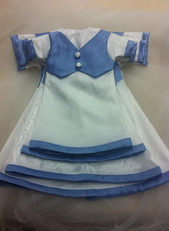 4 Sizes of Angel Gowns with blue vests